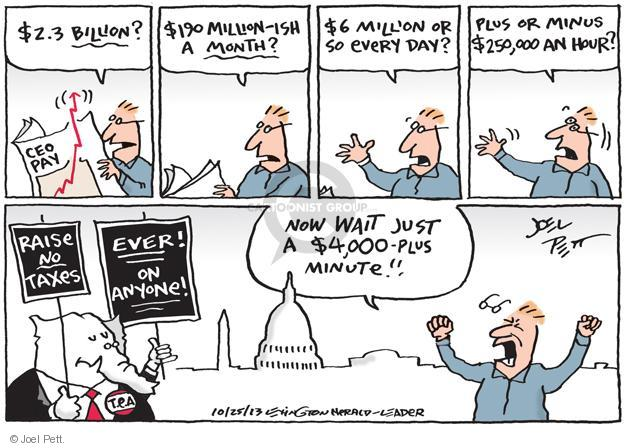 Cartoonist Joel Pett  Joel Pett's Editorial Cartoons 2013-10-25 business tax