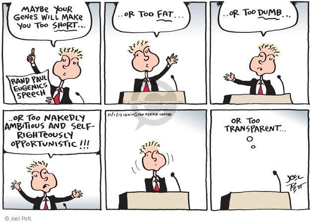 Joel Pett  Joel Pett's Editorial Cartoons 2013-11-01 ambitious