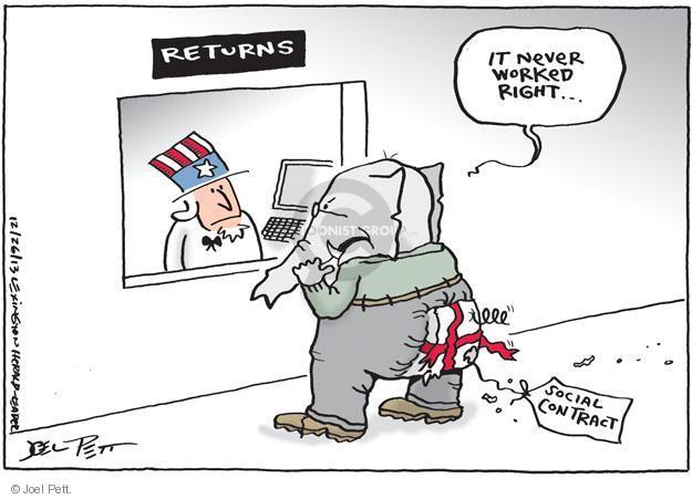Joel Pett  Joel Pett's Editorial Cartoons 2013-12-26 return
