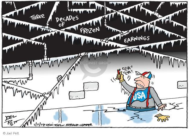 Cartoonist Joel Pett  Joel Pett's Editorial Cartoons 2014-01-07 United States