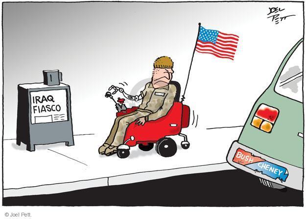 Cartoonist Joel Pett  Joel Pett's Editorial Cartoons 2014-01-09 Iraq war