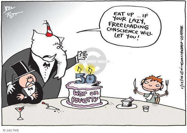 Joel Pett  Joel Pett's Editorial Cartoons 2014-01-12 income inequality