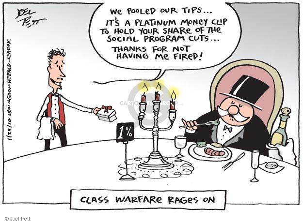 Joel Pett  Joel Pett's Editorial Cartoons 2014-01-29 one percent