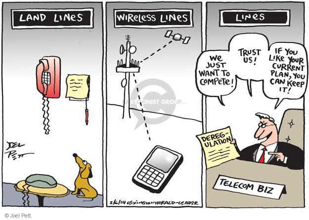 Joel Pett  Joel Pett's Editorial Cartoons 2014-02-06 business