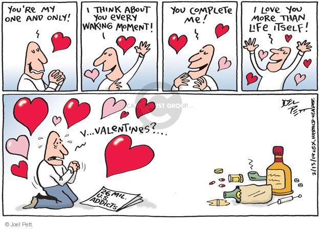 Joel Pett  Joel Pett's Editorial Cartoons 2014-02-13 addiction