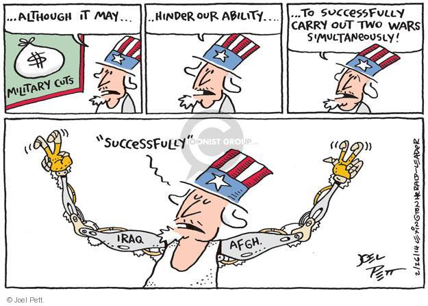 Cartoonist Joel Pett  Joel Pett's Editorial Cartoons 2014-02-26 Afghanistan
