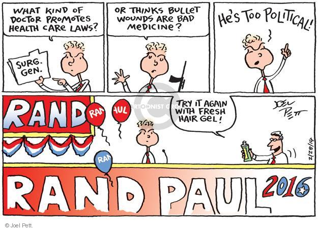 Joel Pett  Joel Pett's Editorial Cartoons 2014-02-28 rhetoric