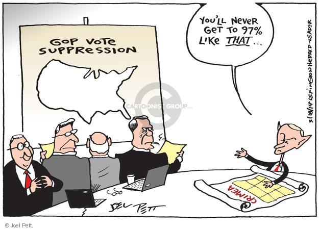 Cartoonist Joel Pett  Joel Pett's Editorial Cartoons 2014-03-18 invasion