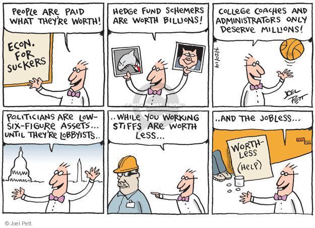 Cartoonist Joel Pett  Joel Pett's Editorial Cartoons 2014-03-20 lobbyist