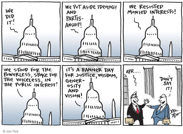Cartoonist Joel Pett  Joel Pett's Editorial Cartoons 2014-04-01 capitol building
