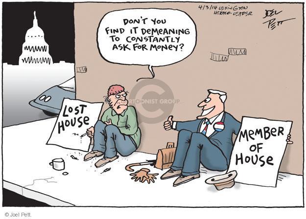 Cartoonist Joel Pett  Joel Pett's Editorial Cartoons 2014-04-03 donation