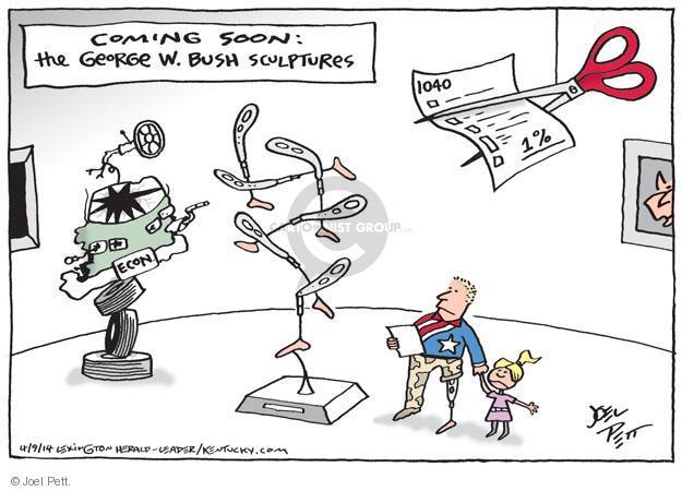 Cartoonist Joel Pett  Joel Pett's Editorial Cartoons 2014-04-09 George Bush painting