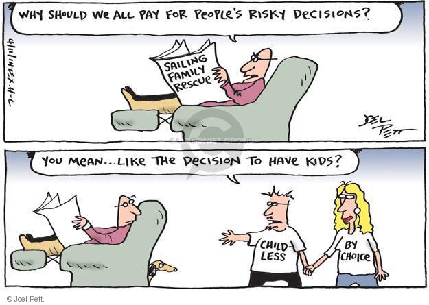 Joel Pett  Joel Pett's Editorial Cartoons 2014-04-11 risk