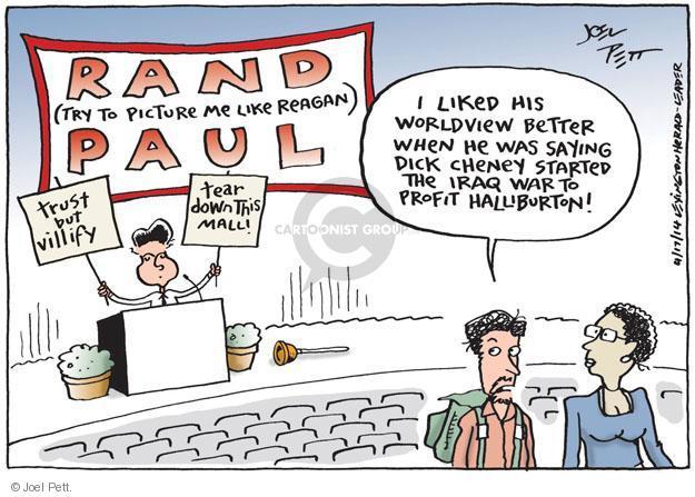 Cartoonist Joel Pett  Joel Pett's Editorial Cartoons 2014-04-17 Dick Cheney
