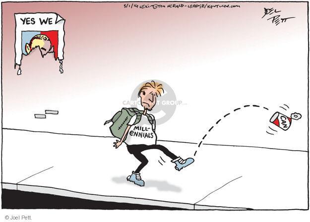 Cartoonist Joel Pett  Joel Pett's Editorial Cartoons 2014-05-01 youth