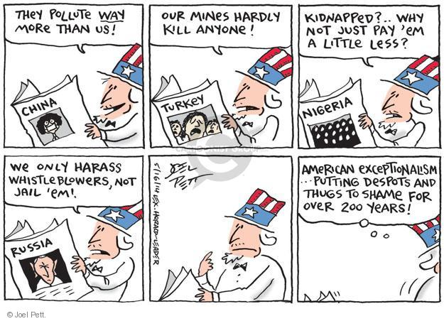 Cartoonist Joel Pett  Joel Pett's Editorial Cartoons 2014-05-16 politics