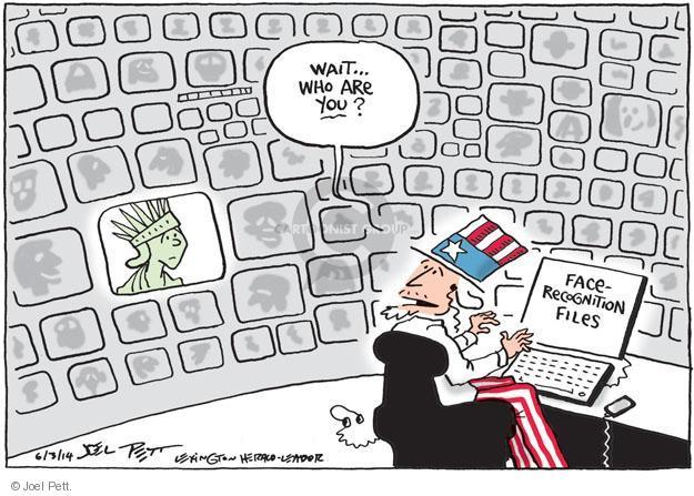 Cartoonist Joel Pett  Joel Pett's Editorial Cartoons 2014-06-03 national security