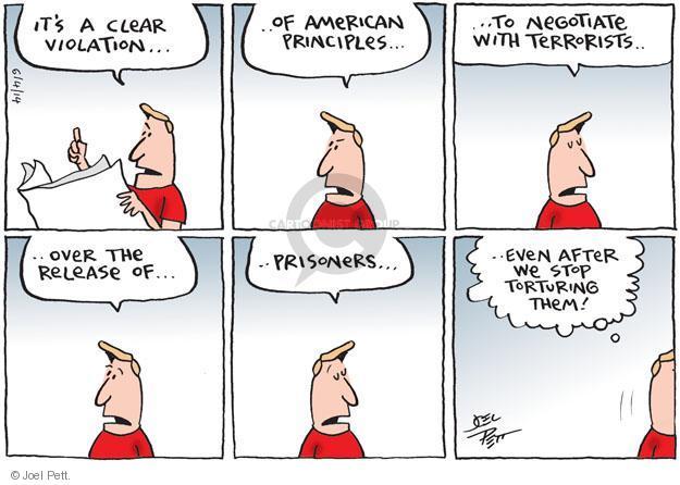 Joel Pett  Joel Pett's Editorial Cartoons 2014-06-04 negotiation