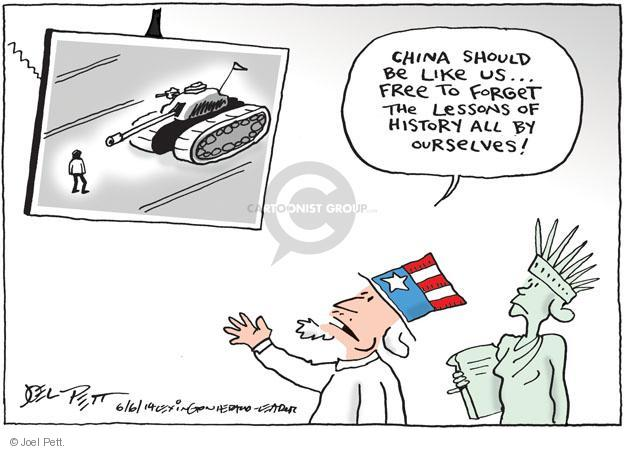 China should be like us … Free to forget the lessons of history all by ourselves!