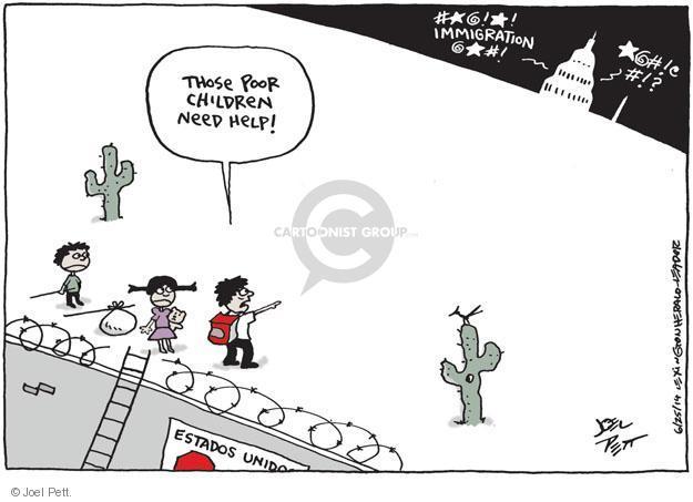 Joel Pett  Joel Pett's Editorial Cartoons 2014-06-27 immigration