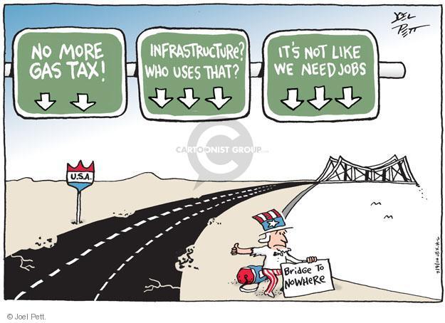 Joel Pett  Joel Pett's Editorial Cartoons 2014-07-09 infrastructure