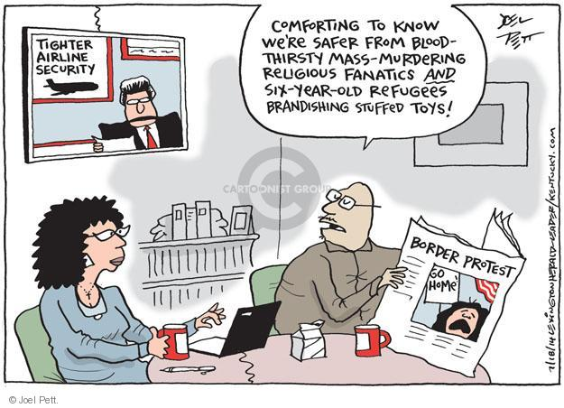 Cartoonist Joel Pett  Joel Pett's Editorial Cartoons 2014-07-18 border security