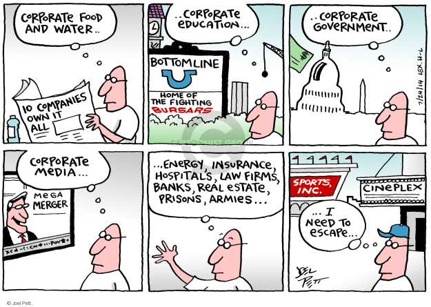 Joel Pett  Joel Pett's Editorial Cartoons 2014-07-24 media distraction