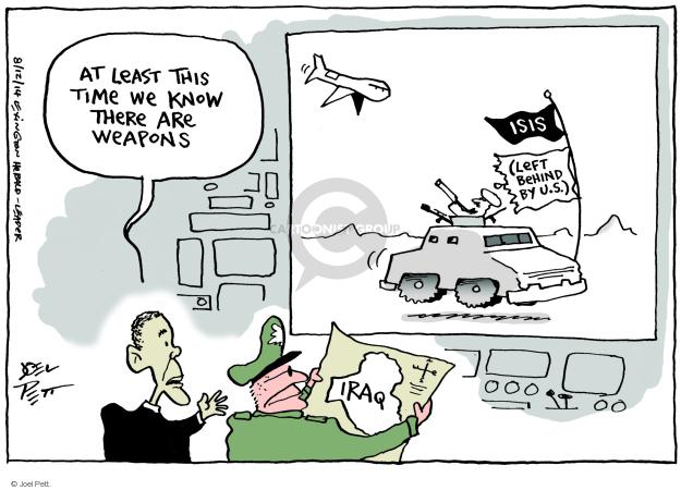 Cartoonist Joel Pett  Joel Pett's Editorial Cartoons 2014-08-14 Iraq