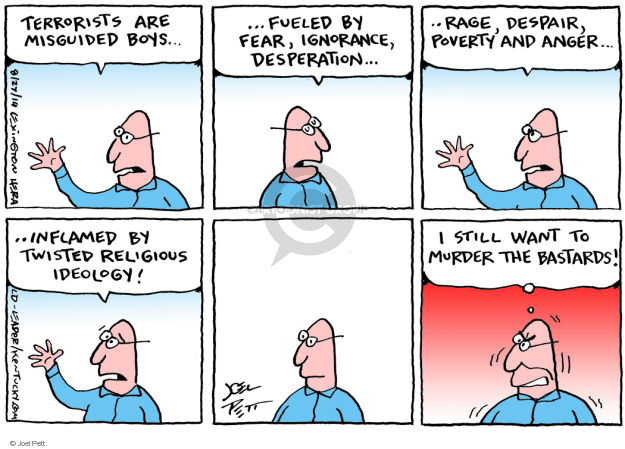 Cartoonist Joel Pett  Joel Pett's Editorial Cartoons 2014-08-27 terror