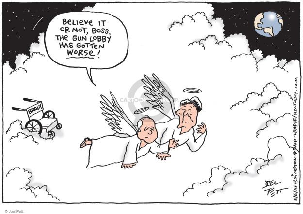 Cartoonist Joel Pett  Joel Pett's Editorial Cartoons 2014-08-06 weaponry