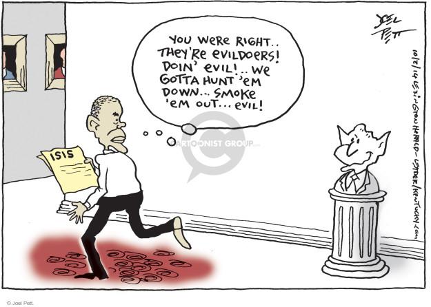 Cartoonist Joel Pett  Joel Pett's Editorial Cartoons 2014-10-02 Iraq war
