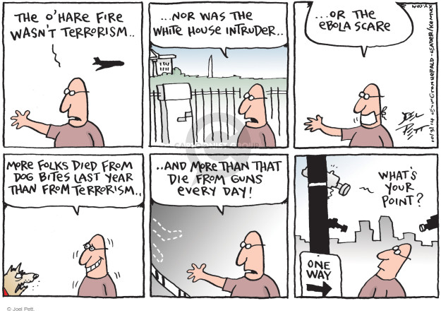 Cartoonist Joel Pett  Joel Pett's Editorial Cartoons 2014-10-03 terror attack