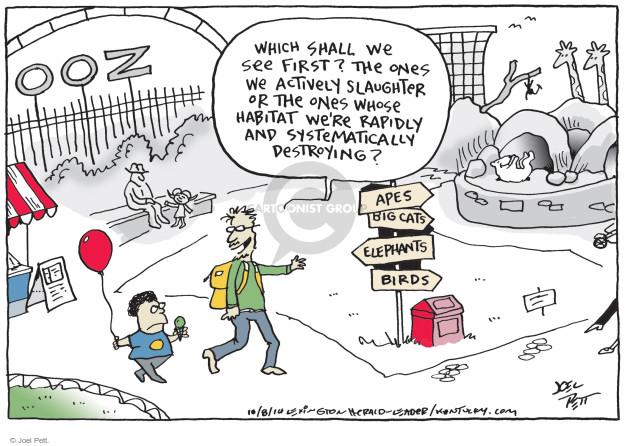 Joel Pett  Joel Pett's Editorial Cartoons 2014-10-08 species