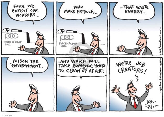 Cartoonist Joel Pett  Joel Pett's Editorial Cartoons 2014-10-10 exploitation