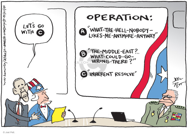Cartoonist Joel Pett  Joel Pett's Editorial Cartoons 2014-10-17 middle