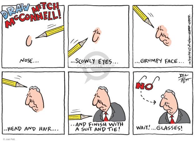 Joel Pett  Joel Pett's Editorial Cartoons 2014-10-24 Mitch McConnell
