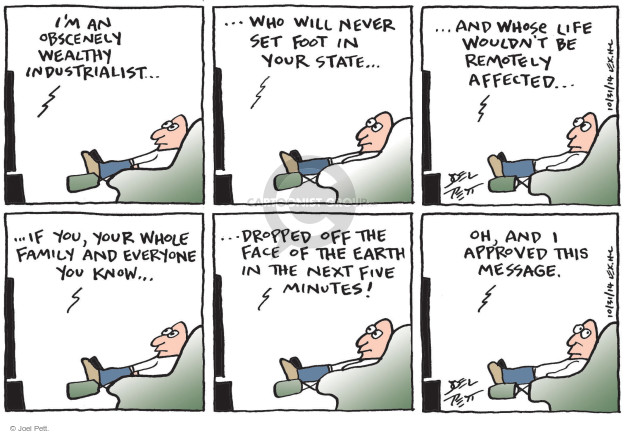 Cartoonist Joel Pett  Joel Pett's Editorial Cartoons 2014-10-31 family