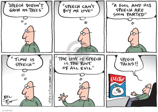 Cartoonist Joel Pett  Joel Pett's Editorial Cartoons 2014-11-05 political advertising