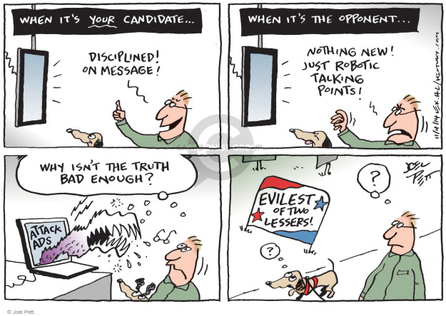 Joel Pett  Joel Pett's Editorial Cartoons 2014-11-04 attack