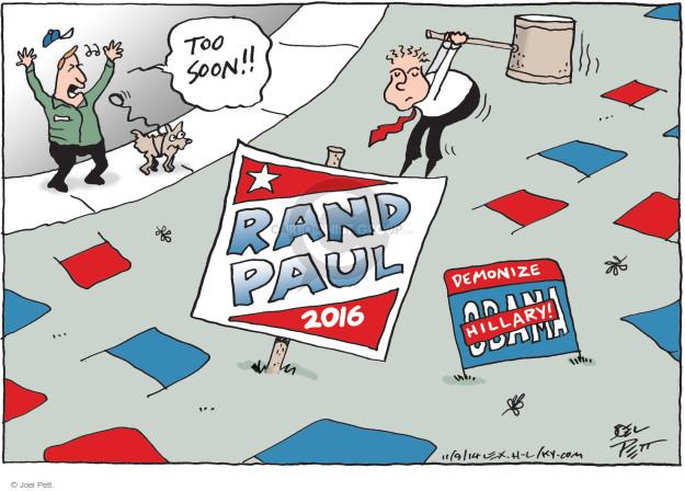 Joel Pett  Joel Pett's Editorial Cartoons 2014-11-09 yard