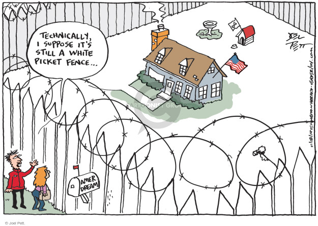 Cartoonist Joel Pett  Joel Pett's Editorial Cartoons 2014-11-18 immigration