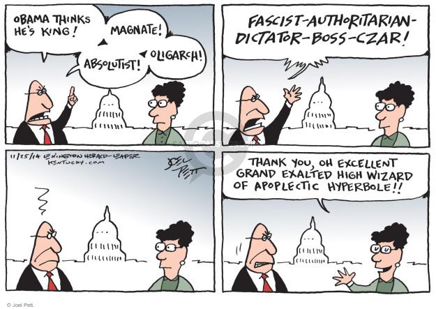Joel Pett  Joel Pett's Editorial Cartoons 2014-11-25 rhetoric