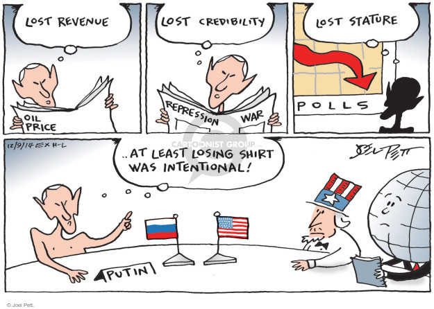 Joel Pett  Joel Pett's Editorial Cartoons 2014-12-09 Vladimir Putin