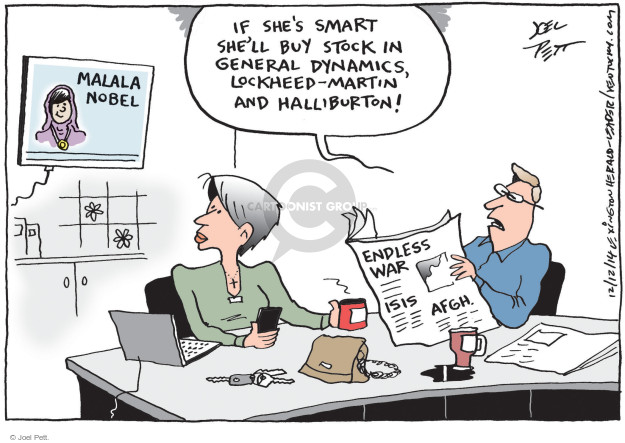 Cartoonist Joel Pett  Joel Pett's Editorial Cartoons 2014-12-12 Afghanistan