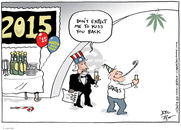 Joel Pett  Joel Pett's Editorial Cartoons 2014-12-30 weed