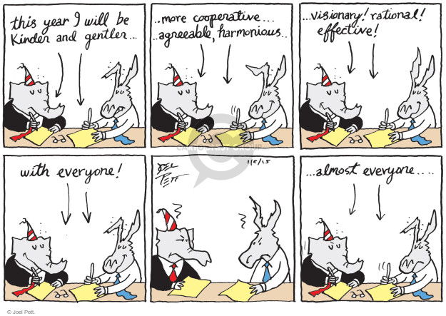 Cartoonist Joel Pett  Joel Pett's Editorial Cartoons 2015-01-02 partisan politics