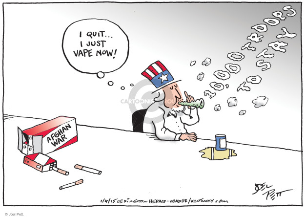 Cartoonist Joel Pett  Joel Pett's Editorial Cartoons 2015-01-04 Afghanistan