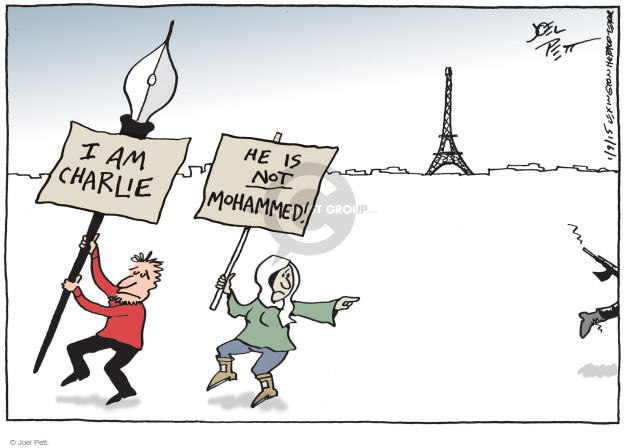 Joel Pett  Joel Pett's Editorial Cartoons 2015-01-09 press freedom