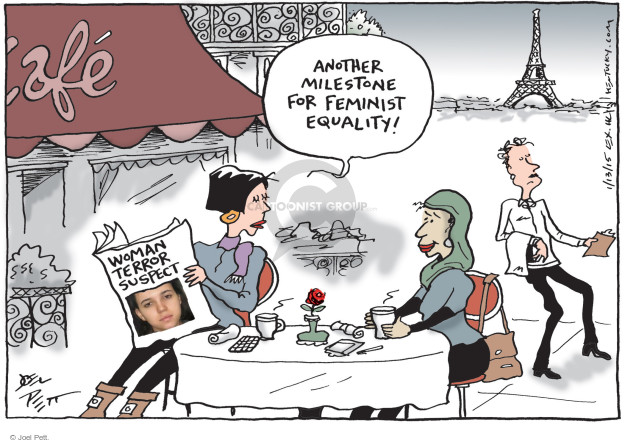 Cartoonist Joel Pett  Joel Pett's Editorial Cartoons 2015-01-13 terror attack