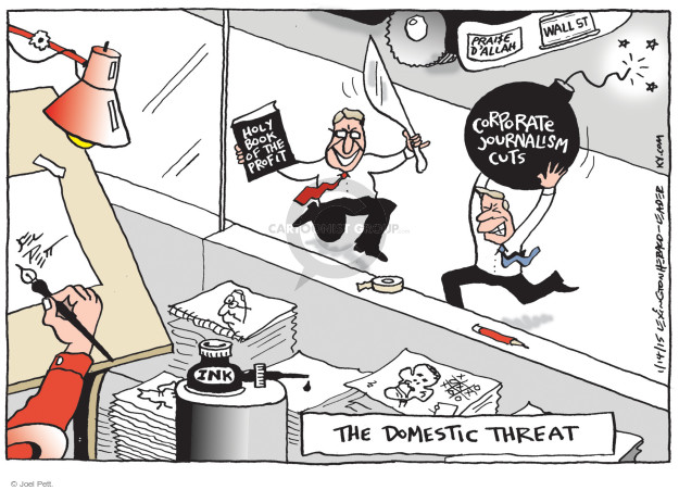 Joel Pett  Joel Pett's Editorial Cartoons 2015-01-14 press freedom